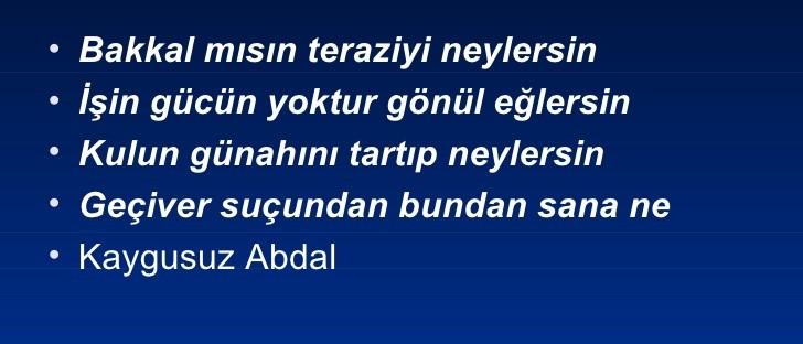 Yunus'un izinde bir tekke şairi: KAYGUSUZ ABDAL - Ali Alper ÇETİN