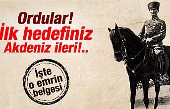 """İzmir Ege'de olduğuna göre, Atatürk neden """"Ordular ilk hedefiniz Akdeniz'dir. İleri!"""" demişti?"""