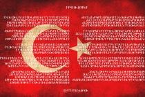 Göktürk abecesi ile İstiklal Marşı... Göktürkçe İstiklal Marşı Nasıl Yazılır?