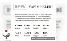 Göktürkçe Yapım Ekleri Nelerdir? Nasıl Yazılır?