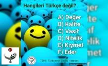 Hangiler Türkçe değil?