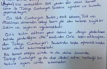 """Doğu Türkistanlı Kardeşimizin Ağlatan Mektubu: """"İdam Edileceğim!"""""""