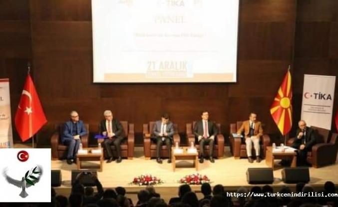 """Üsküp'te """"Balkanlar'da Barışın Dili Türkçe"""" paneli düzenlendi"""