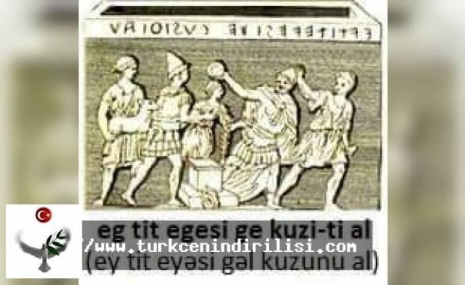 ETRUSK-TÜRK BAĞI bitiyindən bir görüntü.