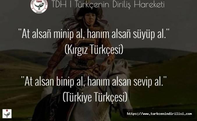 Kırgız Türkçesi,Kırgızca, Kırgız Sözler