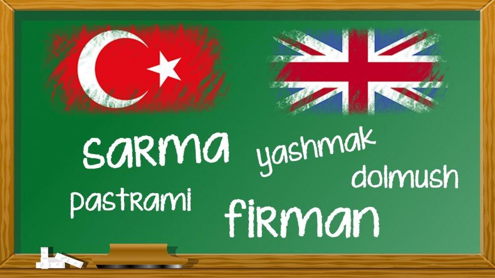 Türkçeden Dünya Dillerine  Geçen Sözcükler, Türkçeden İngilizceye geçen kelimeler, Türkçeden İngilizceye geçen kelimeler, Türkçeden diğer dillere geçen kelimeler