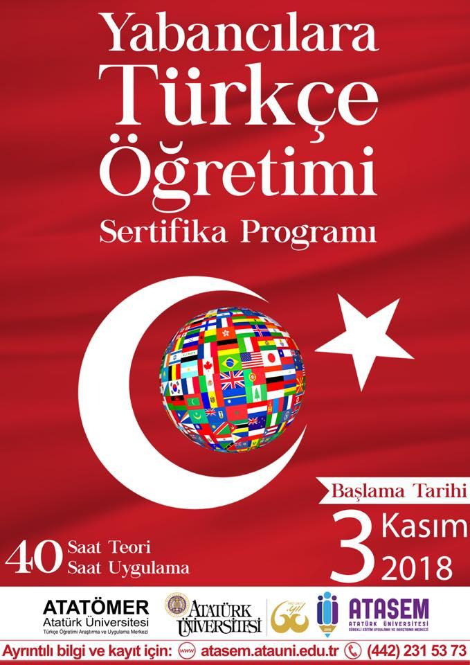Yabancılara Türkçe Öğretimi Sertifika Programı
